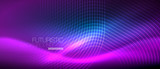Neon glowing lines, magic energy space light concept, abstract background wallpaper design - 236373415