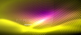 Neon glowing lines, magic energy space light concept, abstract background wallpaper design - 236373437