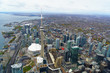 Aerial of Toronto CN Tower