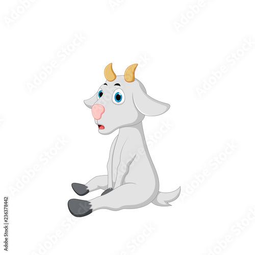vector illustration of a goat cartoon