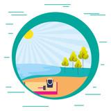 beach sand tree nature landscape