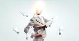 Head full of ideas. Mixed media - 236393298