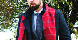 Men's spring business suit and coat