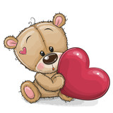 Cute Teddy Bear with heart