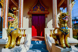 statue in thai temple, digital photo picture as a background