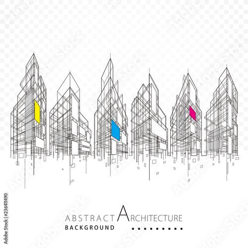 Architektura budynku budowy miastowy 3D projekta abstrakta tło.