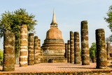pagoda in ayutthaya thailand, digital photo picture as a background