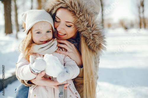 Leinwandbild Motiv mother with daughter