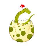 Dinosaur Egg Hatched With Hat © etud