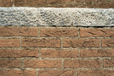 Background with Bricks and a Marble Slab
