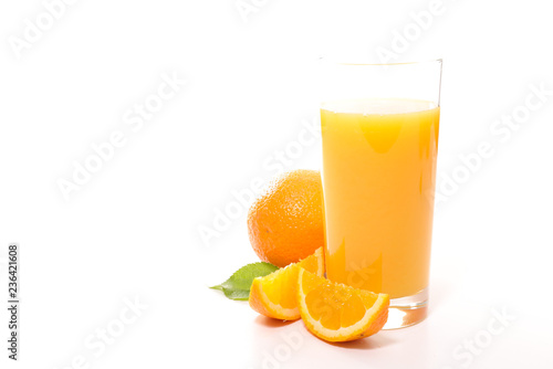 orange juice on white background - 236421608