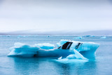 Icebergs in Jokulsarlon glacial lagoon. Vatnajokull National Park, southeast Iceland, Europe. - 236427856
