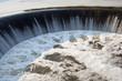 Hydroelectric dam. Yaropoletskaya hydroelectric power. Village Yaropolets. Volokolamsk district. Moscow region