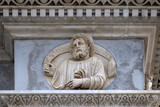 Prophet Zechariah, relief on the portal of the Cathedral of Saint Lawrence in Lugano, Switzerland