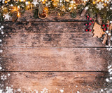 Decorative Christmas rustic background - 236443660