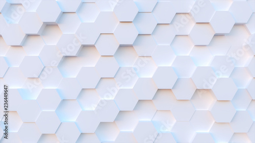 Leinwanddruck Bild technology hexagon pattern background