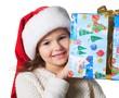 Quadro Child holding a gift.