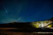 Night sky over Seljalandsfoss - 236457626