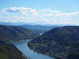 Danube river viewed from melk castle - 236479068