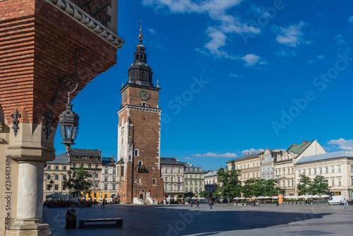 Krakau – Rathausturm und Rynek