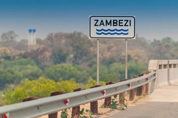 Bridge which crosses the Zambezi River in Zambia.