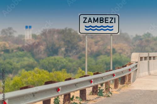 Plakat Bridge which crosses the Zambezi River in Zambia.