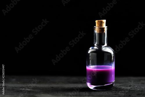 lavender oil in glass bottle - 236513447