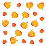 yellow and orange pumpkins decoration background