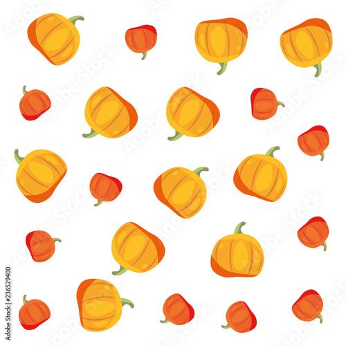 żółte i pomarańczowe tło dekoracji dynie