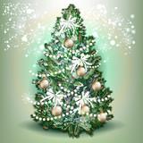 Christmas tree, realistic vector illustration - 236578251