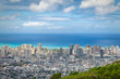 View of Waikiki district from Tantalus lookout, Oahu, Hawaii
