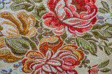 Retro textile, texture with flower pattern, background