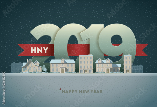 Happy New Year 2019 in the city - 236612890