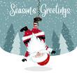 Funny Hanging Santa - 236629698