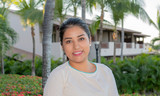 Happy, Smiling, Friendly & Beautiful Mexican Woman Working in a Resort Hotel in Punta de Mita, Nayarit, Mexico - 236630884