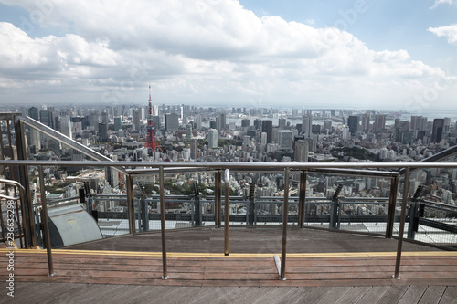 cityscape in the tokyo japan