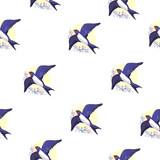 swallow bird pattern - 236644841