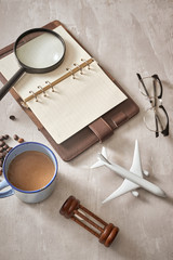 Travel planning concept background. Traveler