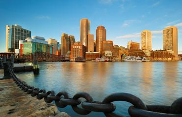 Boston Financial District at Sunrise, Boston, Massachusetts