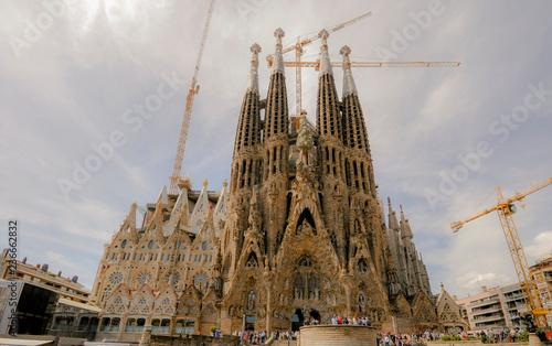 fototapeta na ścianę sagrada familia in barcelona