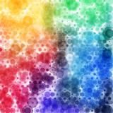 Circular tie die spectrum pattern, square format