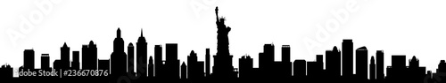 New York city silhouette - stock vector - 236670876