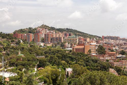 fototapeta na ścianę Panoramic view of Barcelona Spain