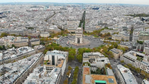 A birds eye view from a beautiful city, Paris.