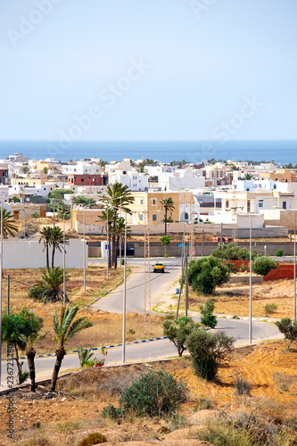 City view. Highway to town. Tunisia - 236723280