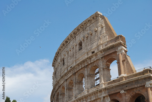 View of Colosseum - Rome, Italy.