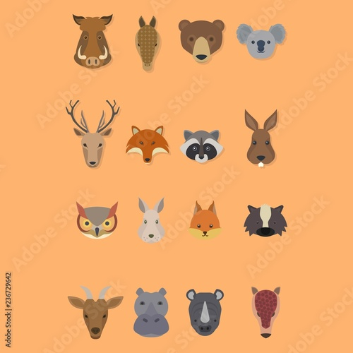 animal head logo design vector