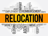Relocation word cloud collage, business concept background - 236736852