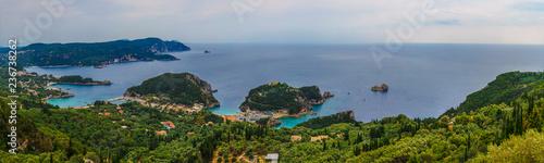 Corfu island Paleokastritsa panorama - 236738262