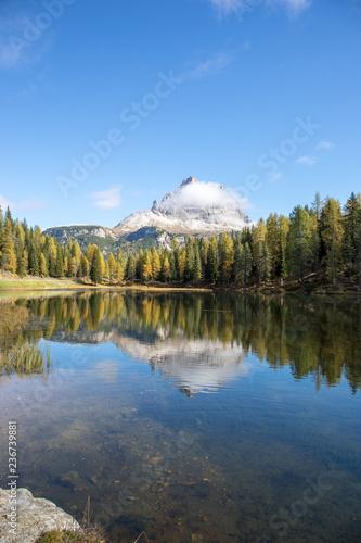 Spiegelung im Lago Antorno